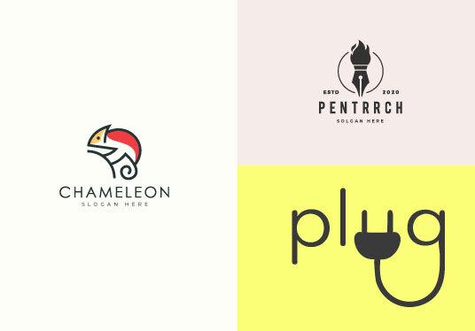design minimalist and creative logo
