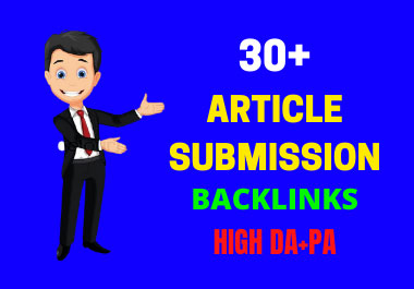 I will do pdf or article submission manually on top 50 sites