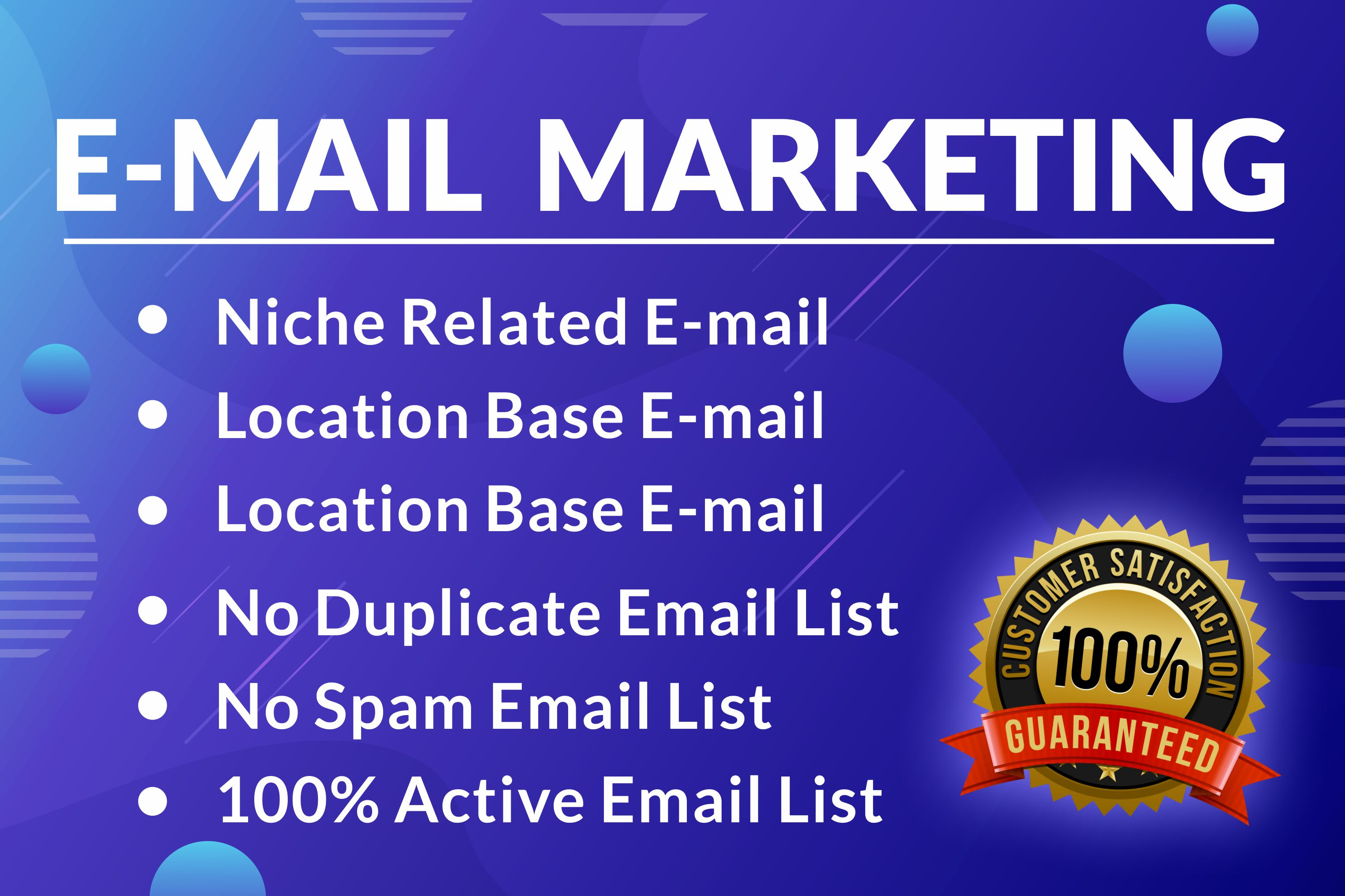 I will Collect 5000 Niche Targeted Active Email List for Email Marketing