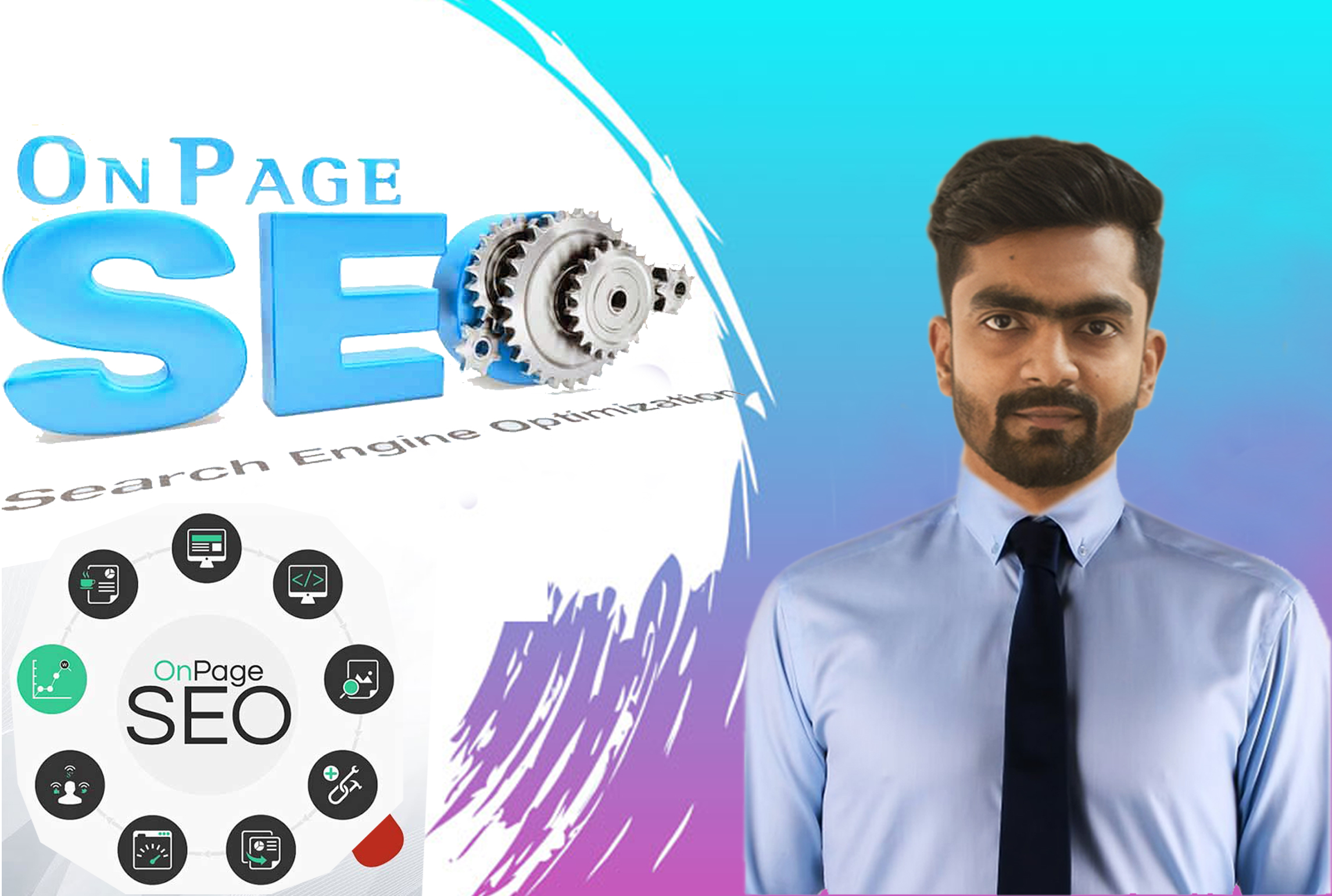 I will be your on page SEO expert for your wordpress website