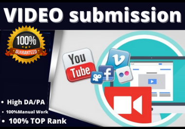 80 Manual video submission on the top video sharing sites