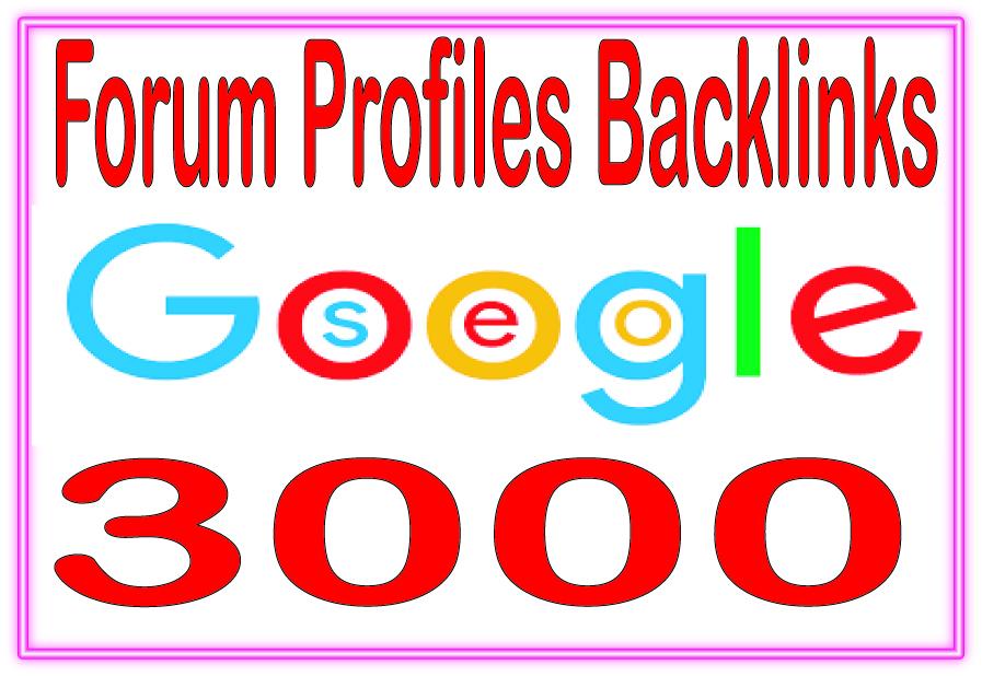3000 forum profiles SEO backlinks quality link building service