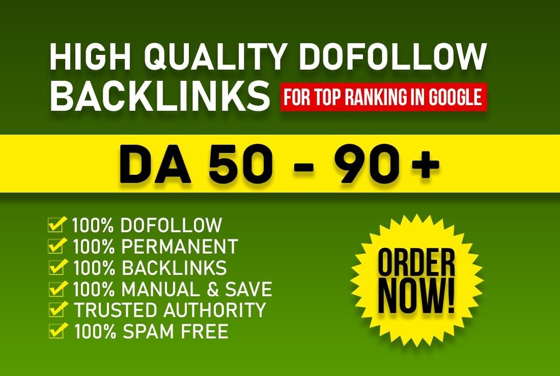Manually create 21 high DA contextual seo dofollow backlinks