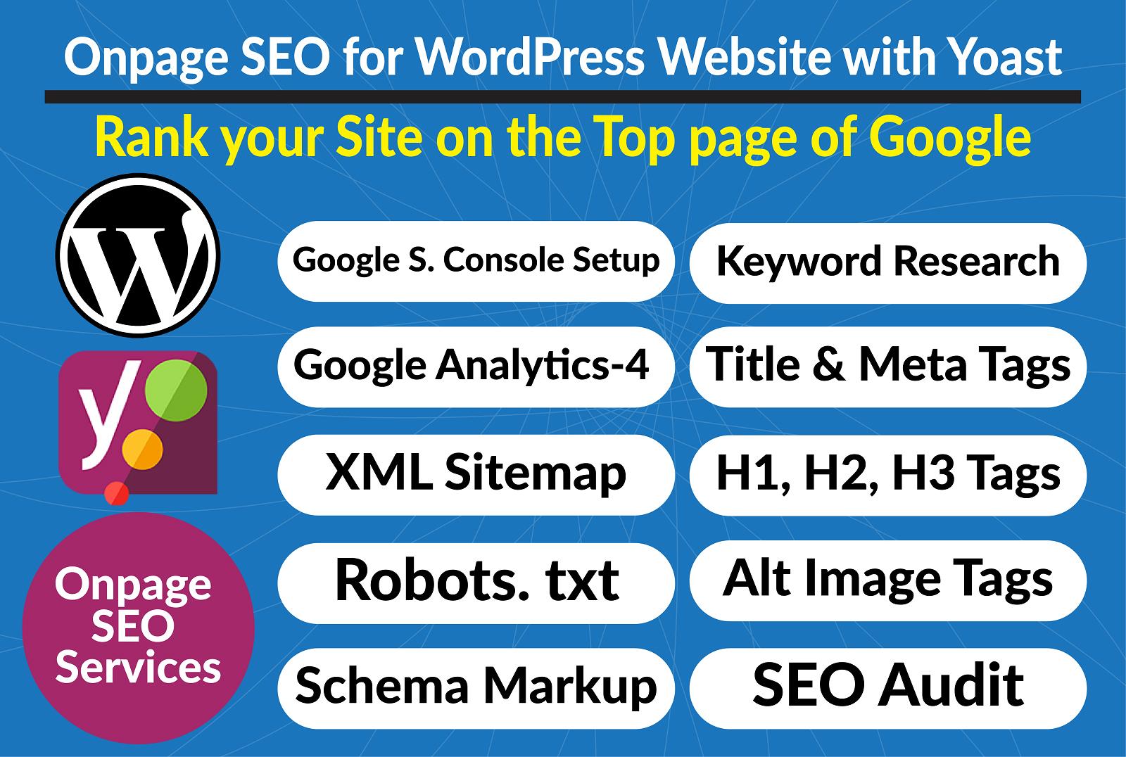 Onpage SEO for WordPress Website with Yoast