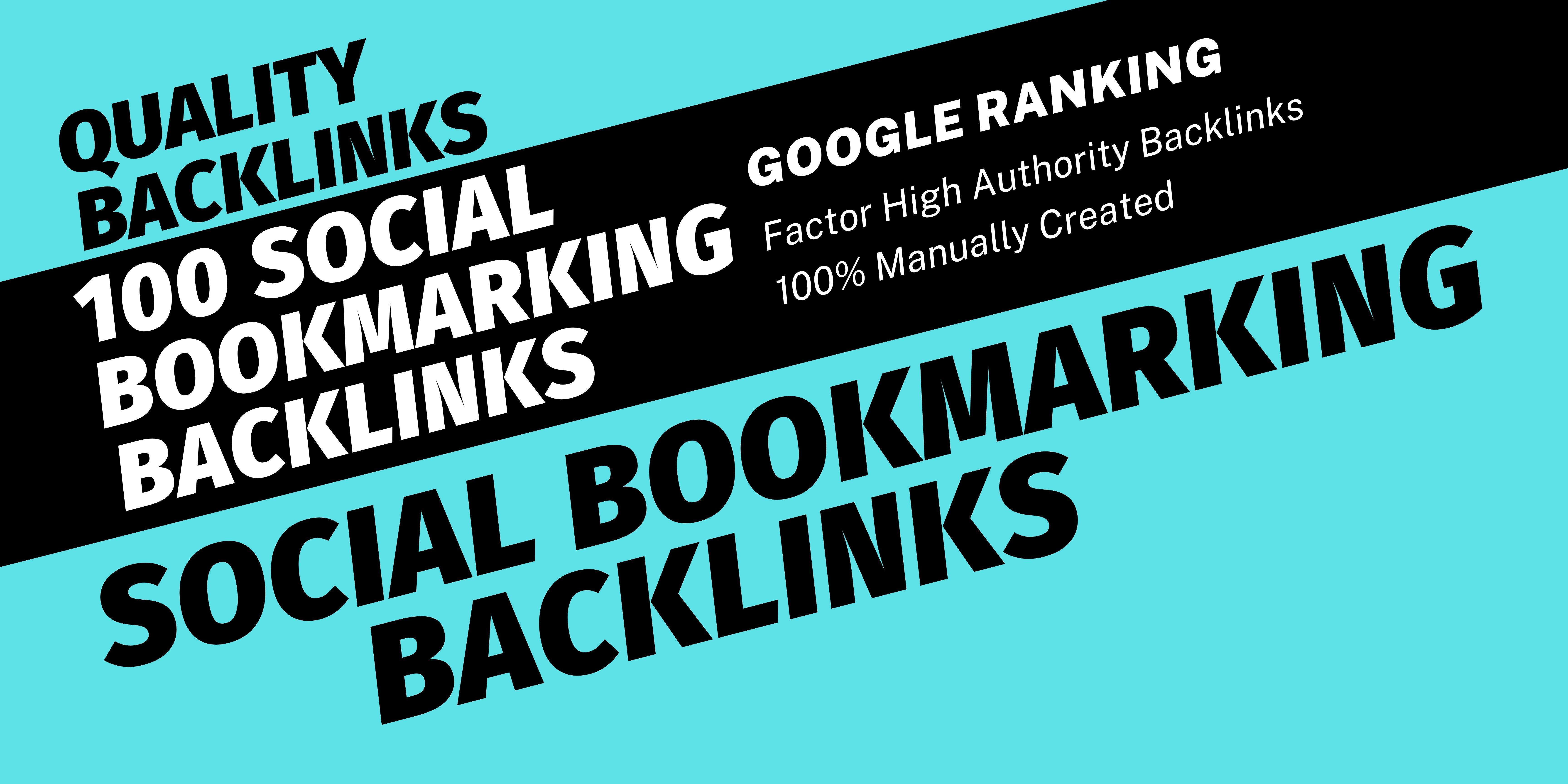100 High-Quality Social Bookmarking Backlinks