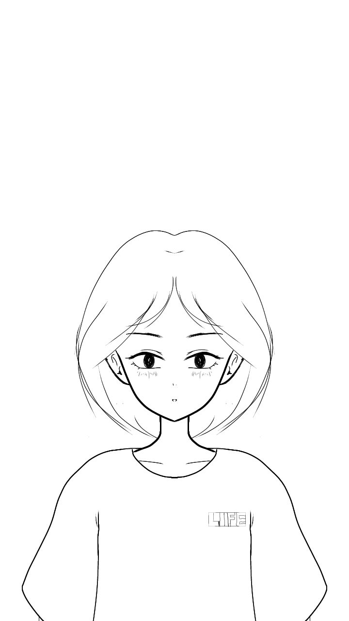 Girly sketches Blank and white Illustrations,  Coloring drawings and more
