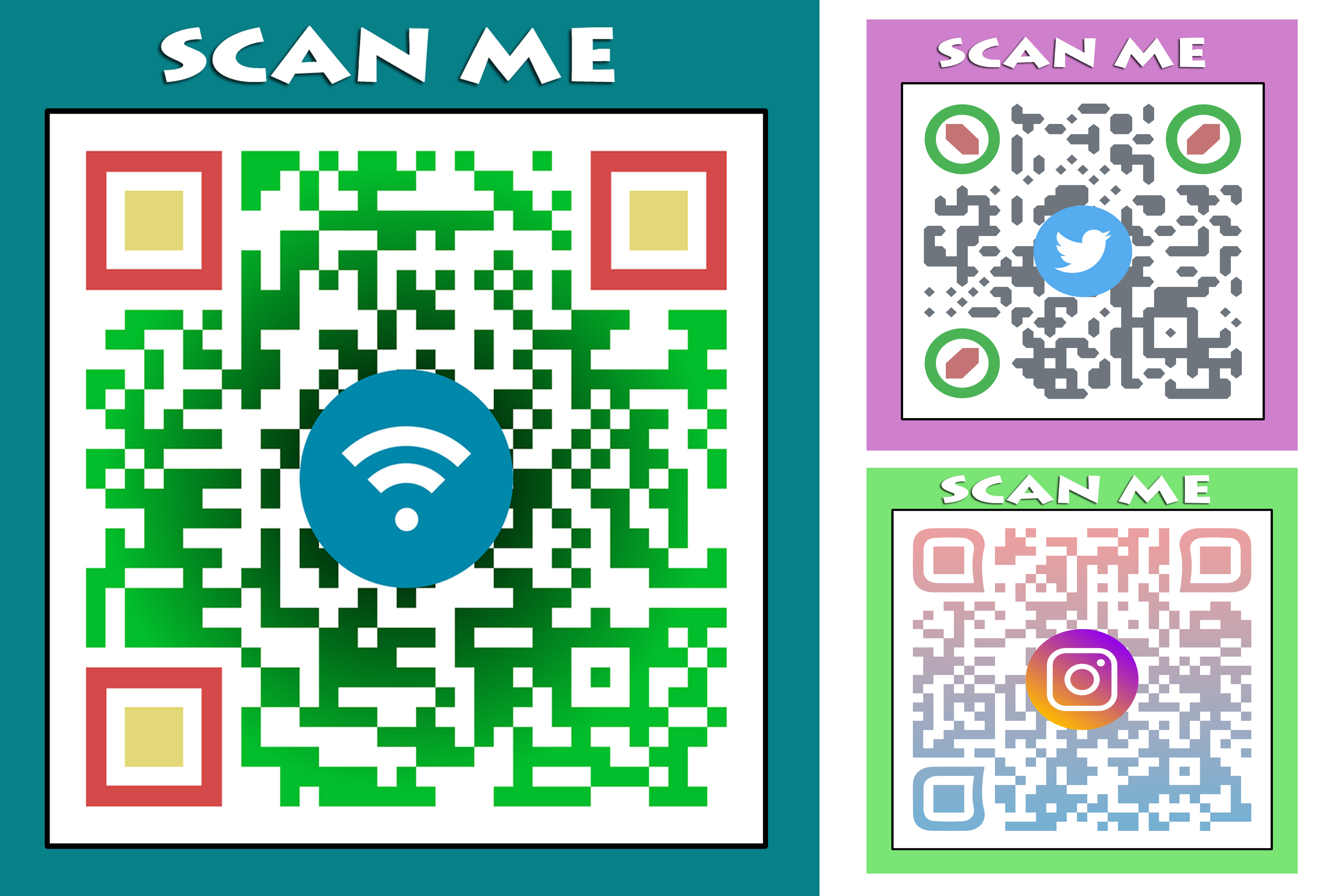 I will do best eye catchy qr code generator with your logo