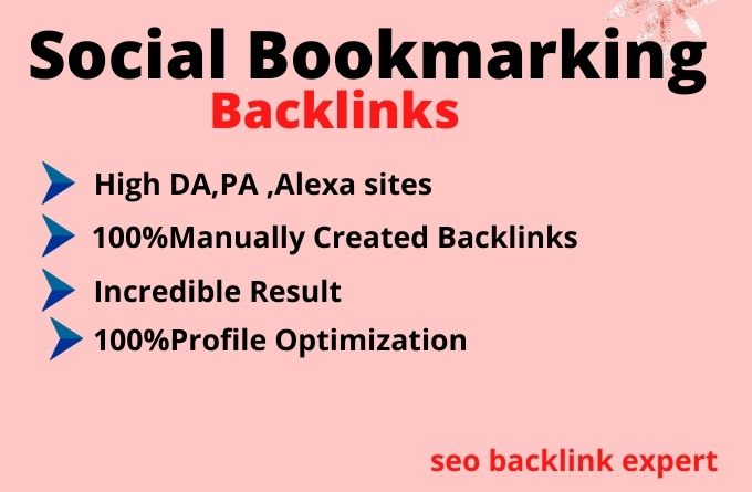 I Will Do 50 SOCIAL BOOKMARK IN HIGH DA PA PR With login Deatils
