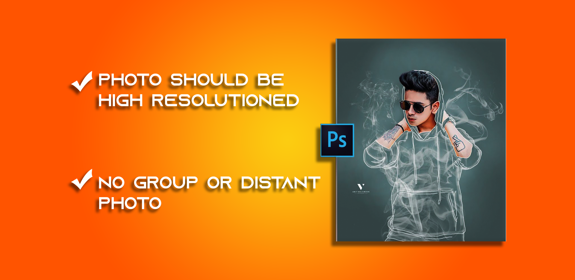 Transparent Smoke Effect On Your Photo - Photo Editing in Photoshop