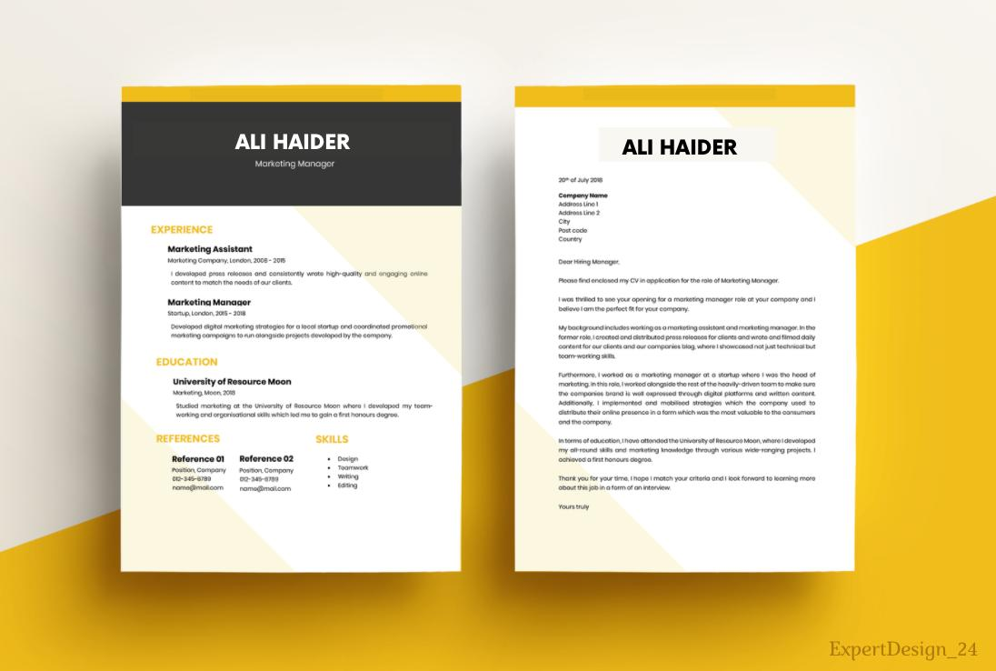 I will provide you professional resume writing services and resume designs in 24 hours