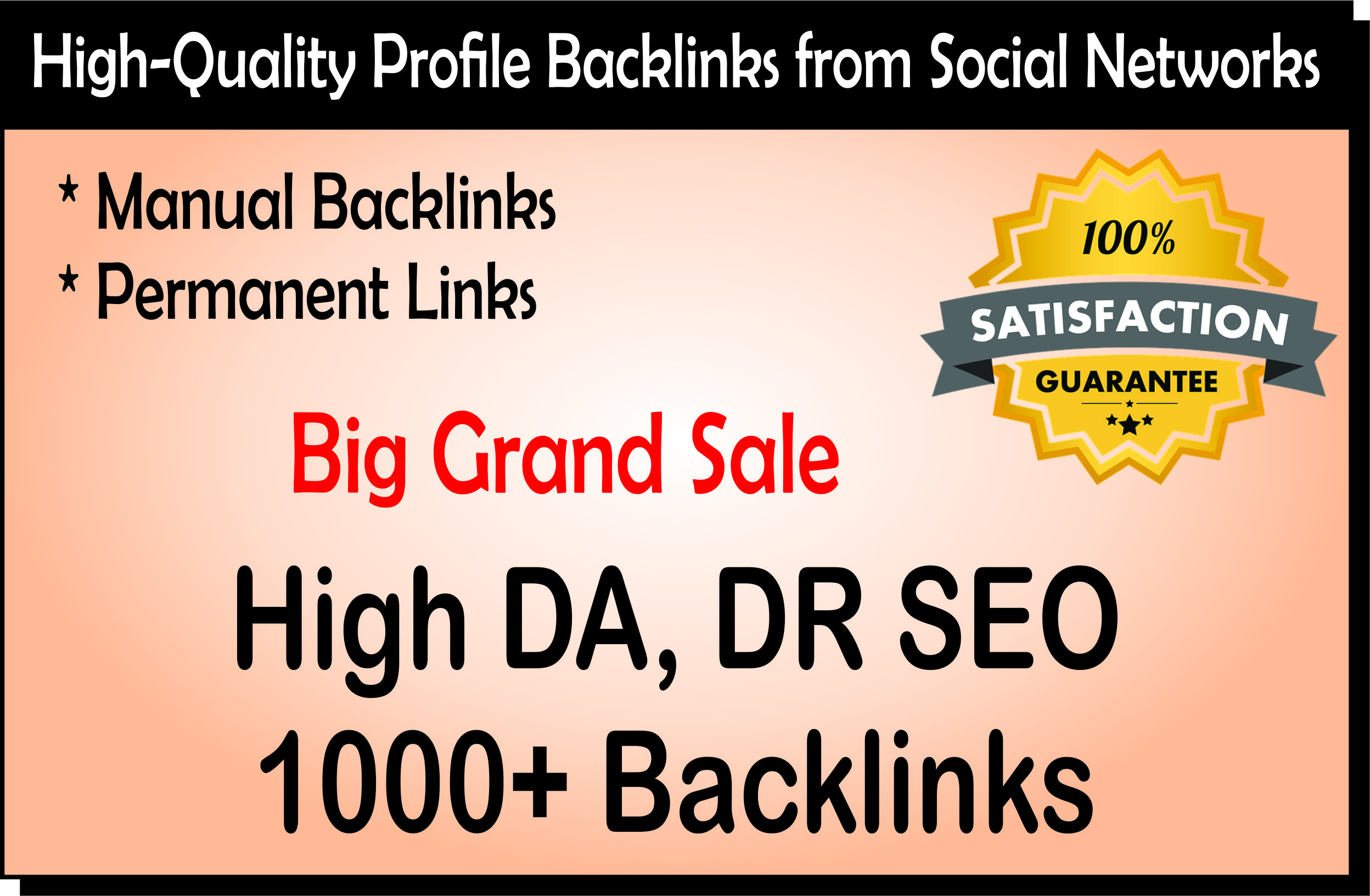 You Will Get 1000 White Hat Dofollow SEO Profile Backlinks