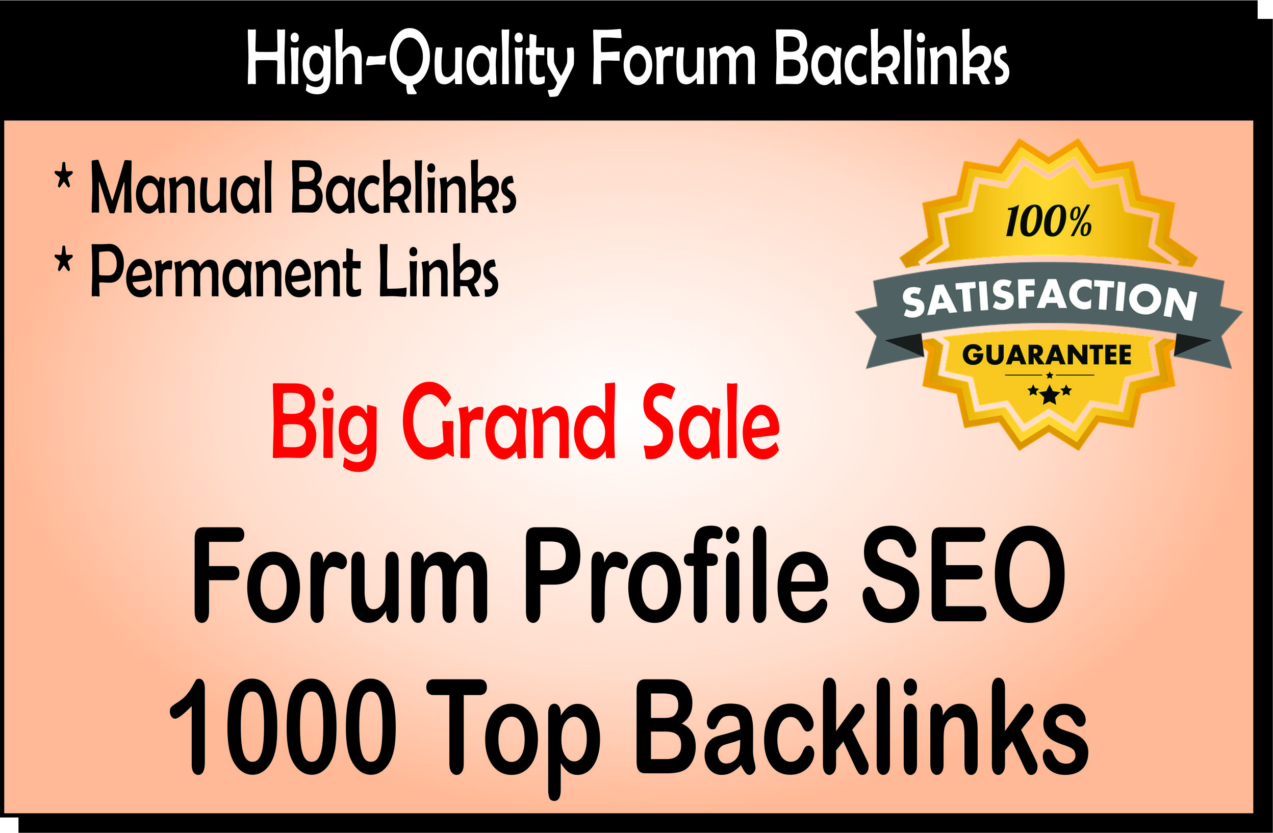 You Will Get 1000 White Hat Dofollow SEO Forum Backlinks Posting