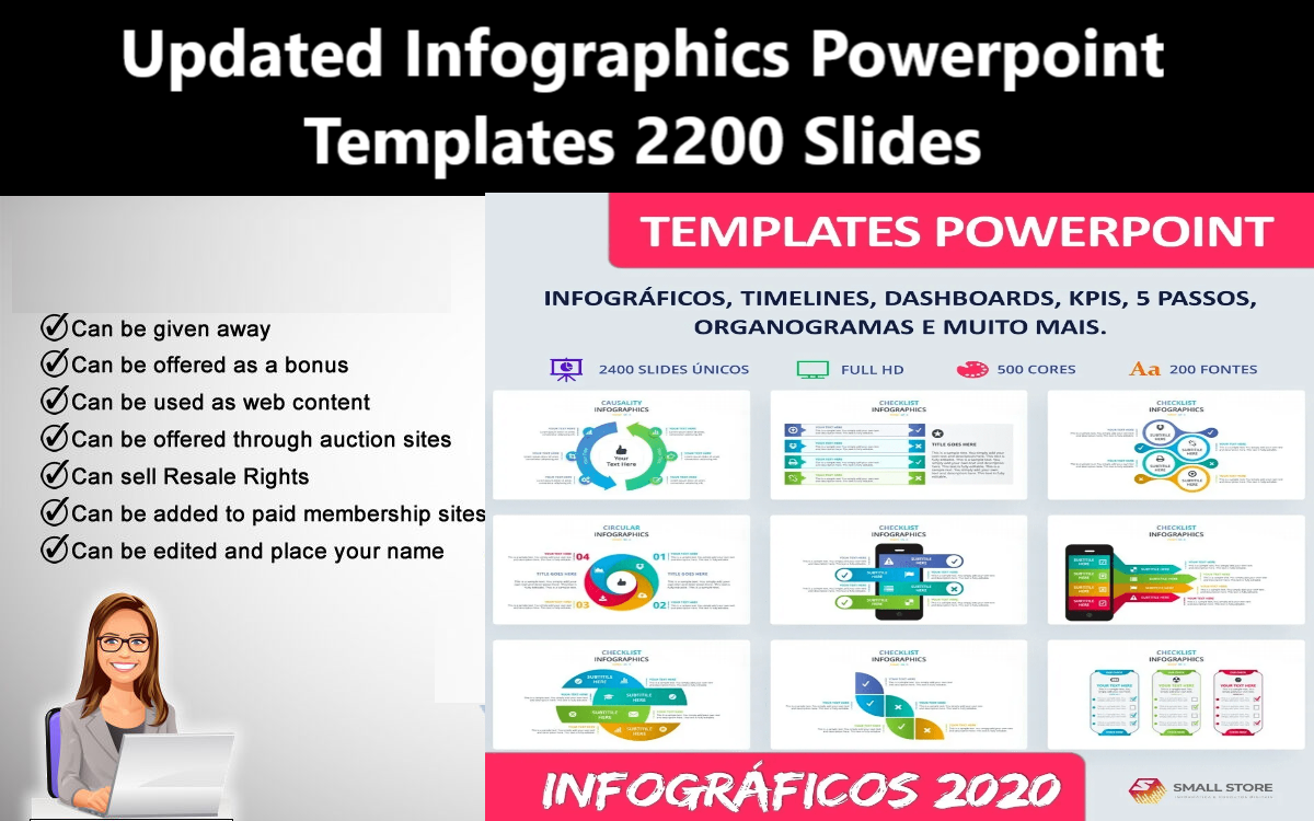 I Will give Updated Infographics Powerpoint Templates 2200 Slides