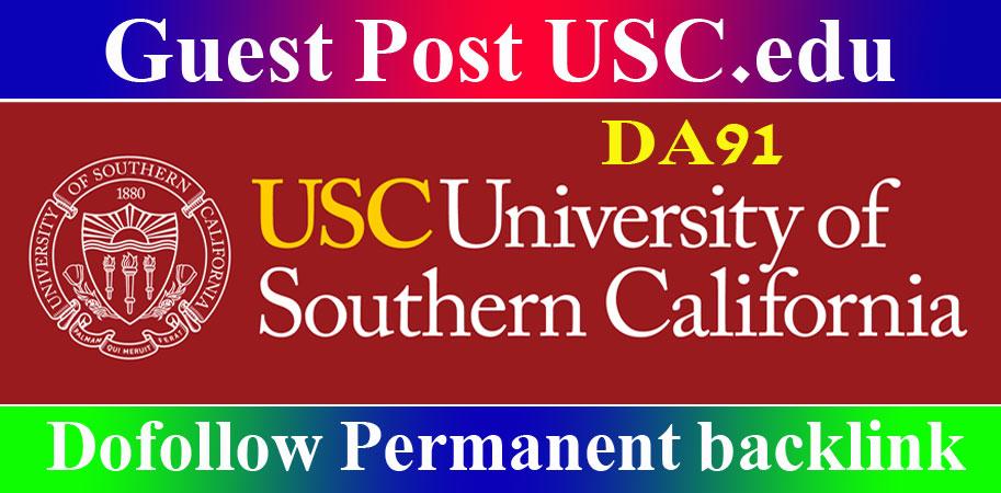 Edu Guest Post on USC EDU SEO Backlinks