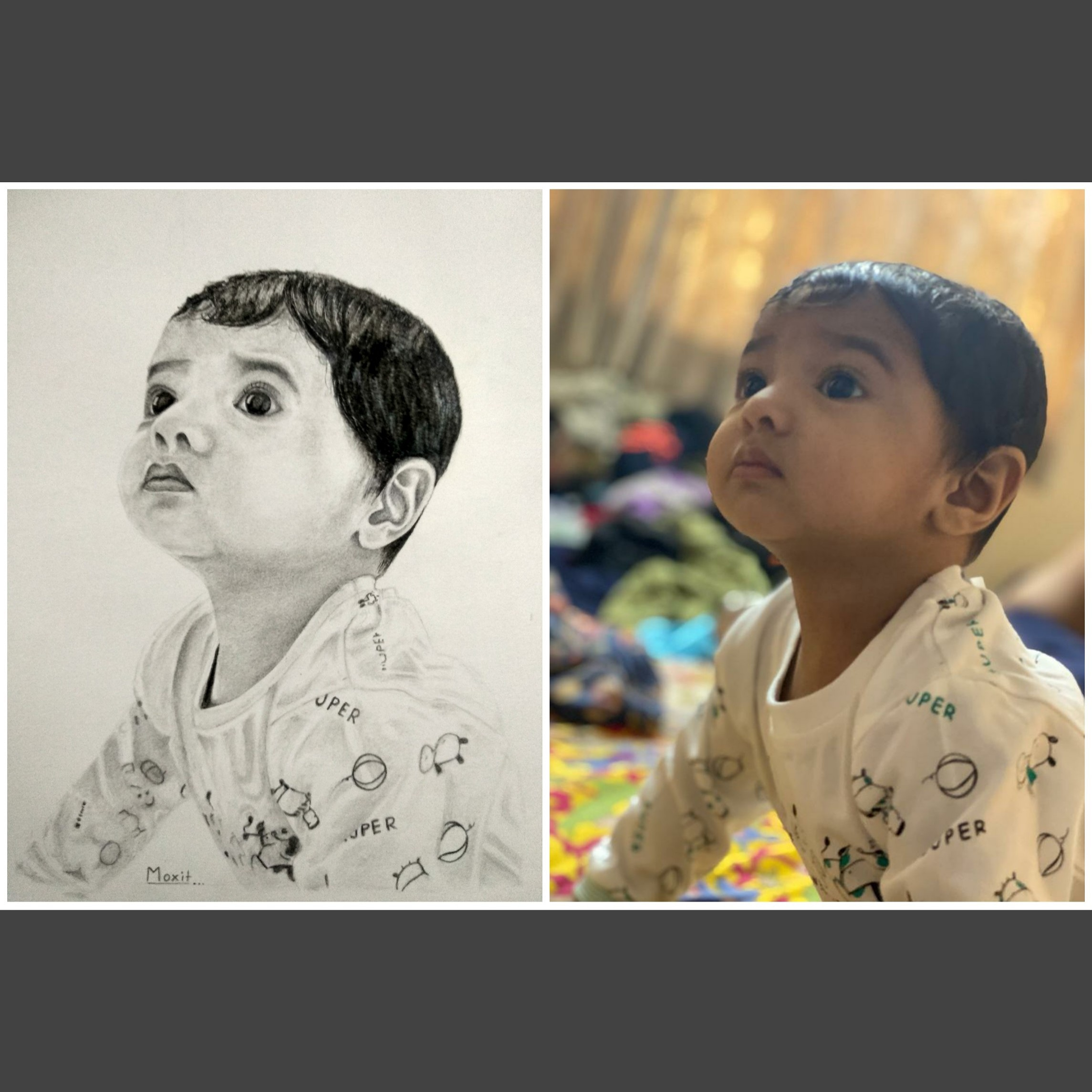 I will draw a realistic pencil sketch portrait from your photo