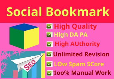 I will do 80 social bookmarking on high DA-PA sites to rank your website