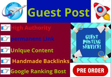 write and publish 5 dofollow guest posts DA 66 googlenews approved blogs all niche