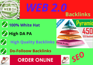 60 WEB 2.0 High Authority Dofollow Contextual Backlinks White Hat SEO Link Building
