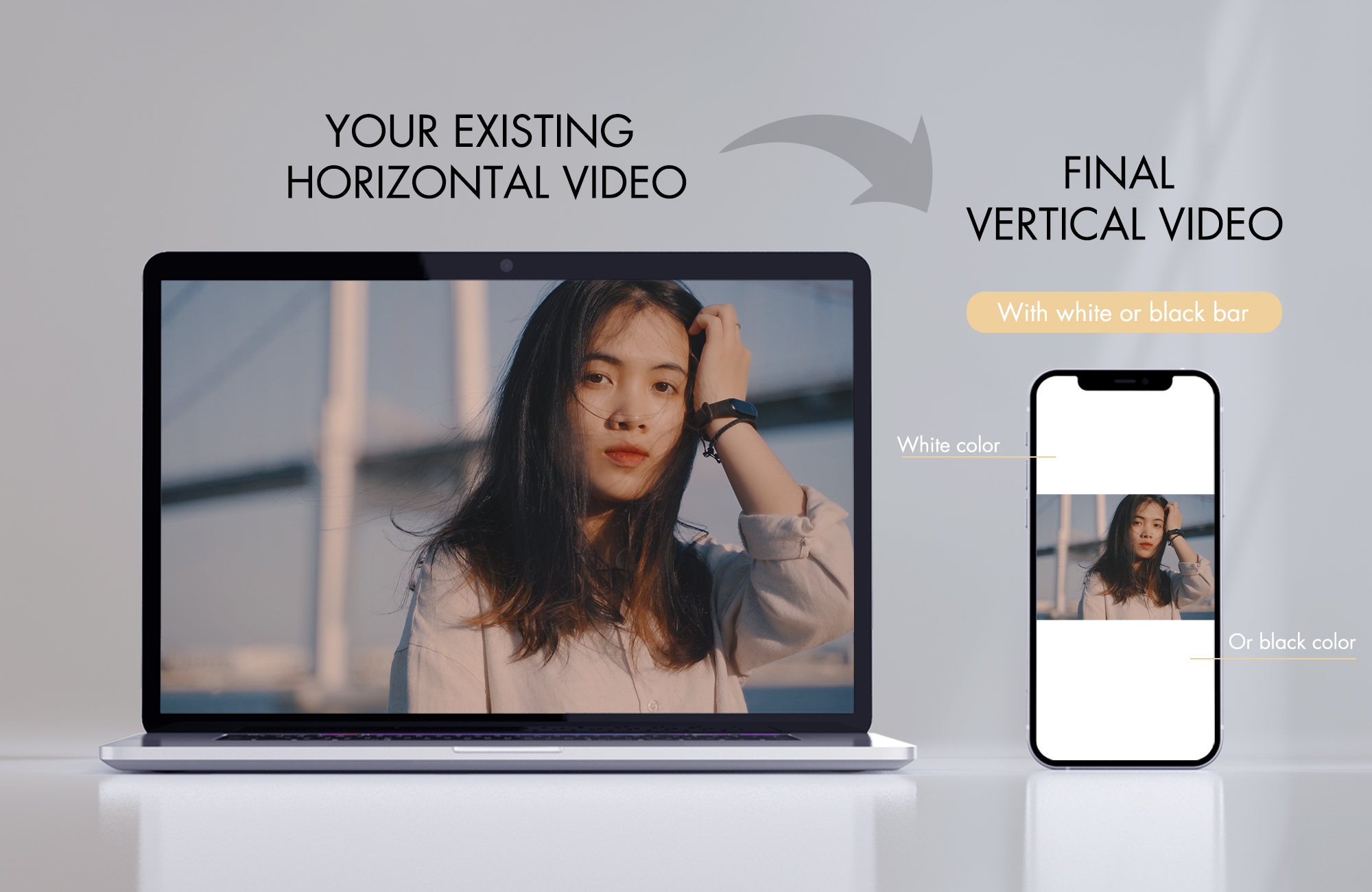 I will convert your landscape video to vertical video