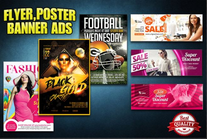 I will create modern unique flyer,  poster,  banner ads design
