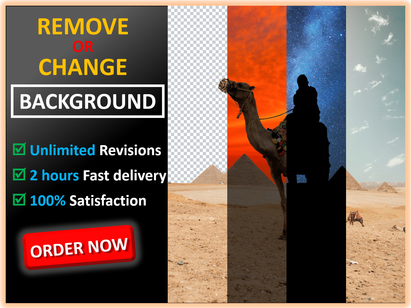 Remove or change photo background professionally