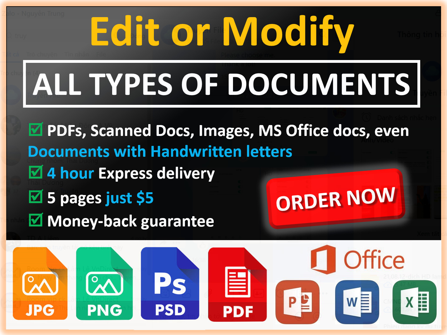 Edit all types of documents professionally