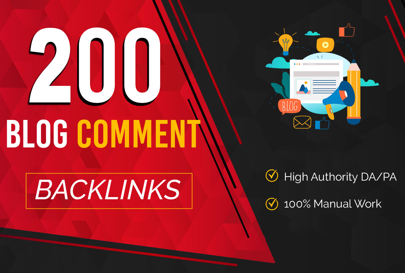 Will Make 200 Do Follow Blog Comments