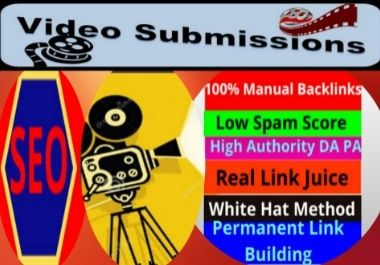Live 100 Video Submission high authority permanent dofollow link building