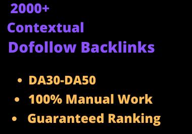 I will do 2000 high quality contextual authority seo dofollow backlinks service