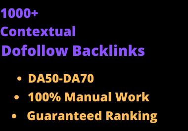 I will do 1000 high quality contextual authority seo dofollow backlinks service