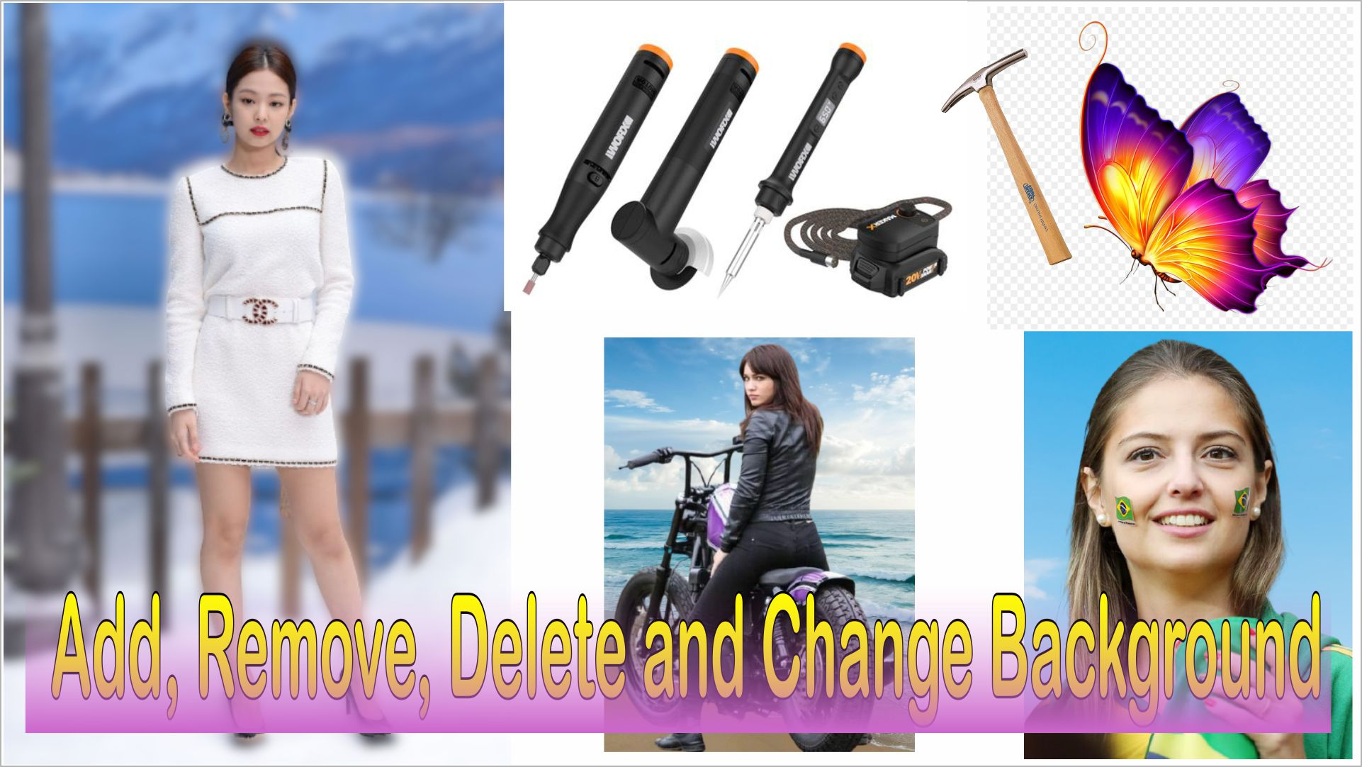 I will edit image in Photoshop,  Remove,  Delete,  Change Background
