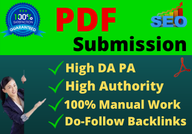 I will do manually 80 PDF Submission on top high authority sites with dofollow backlinks
