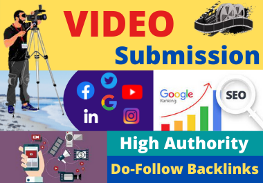I will manually upload or share your video to the top 70 dofollow video sharing sites