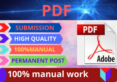 I will 80 PDF submission and docs sharing dofollow backlinks high da