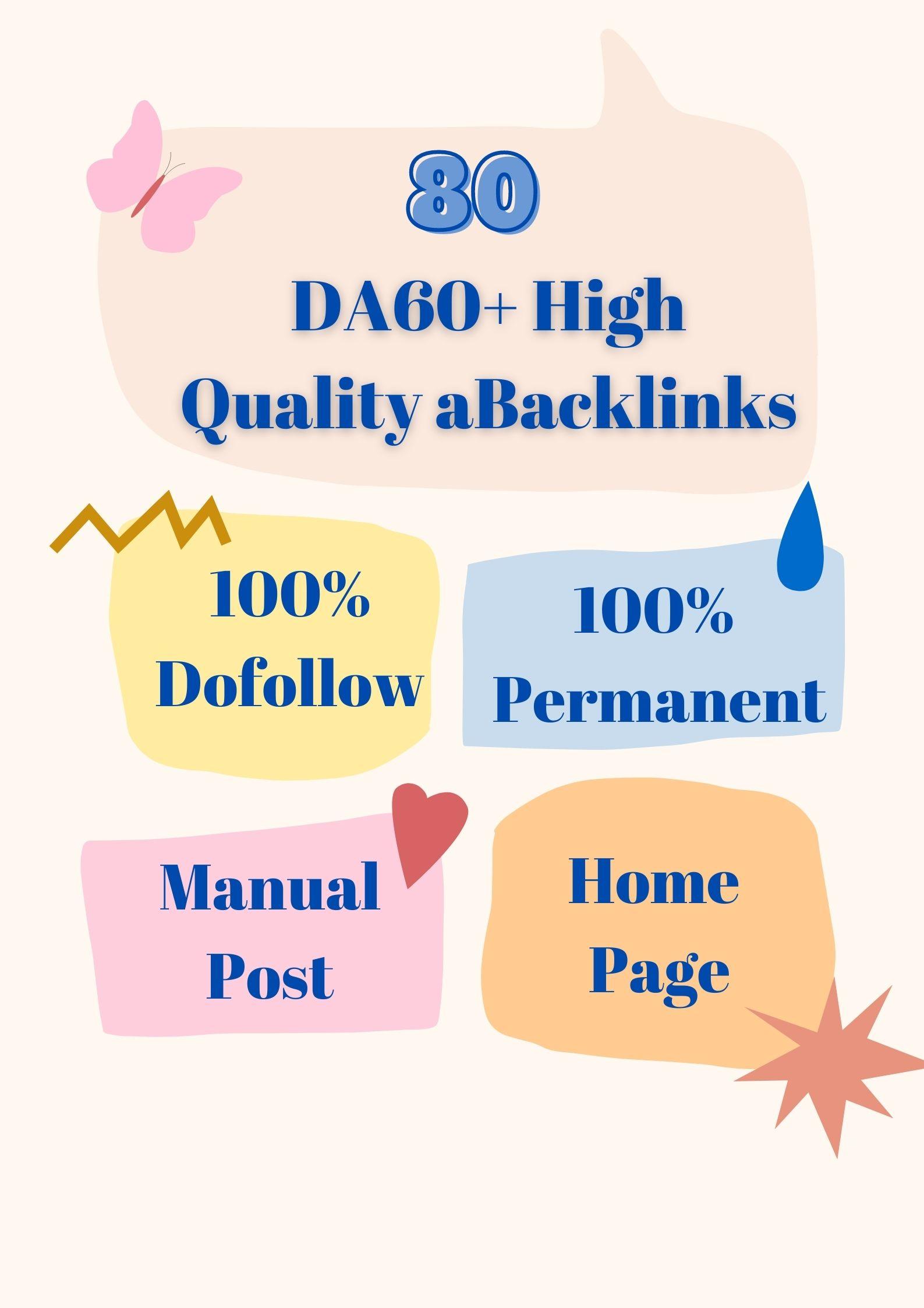 Get 80 High Quality DA60+ Permanent HomePage PBN Links