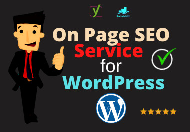 I will do wordpress on page seo optimization service for website ranking