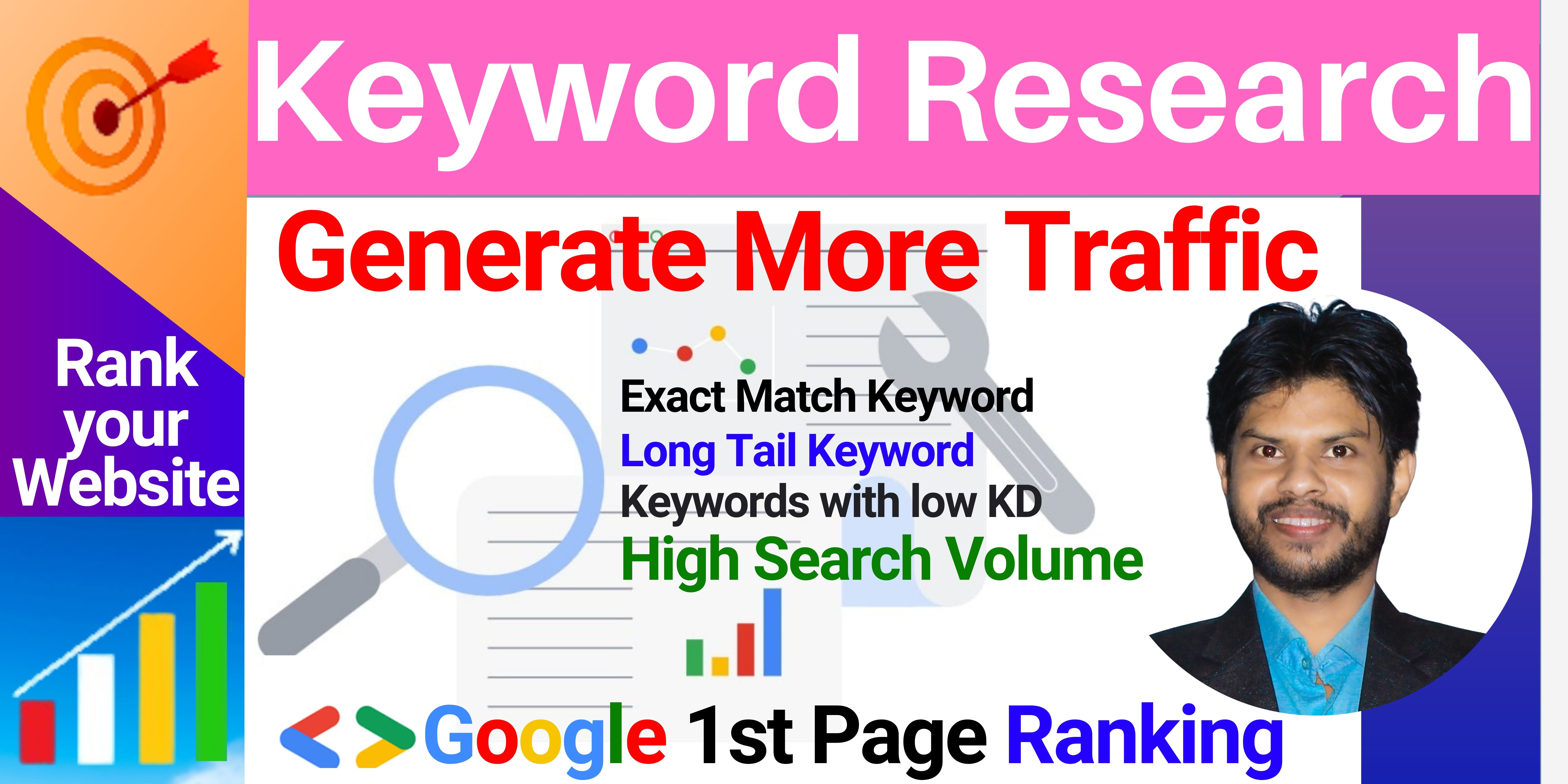 Keyword Research I will find 10 Long Tail Keyword to Generate more Traffic for your website