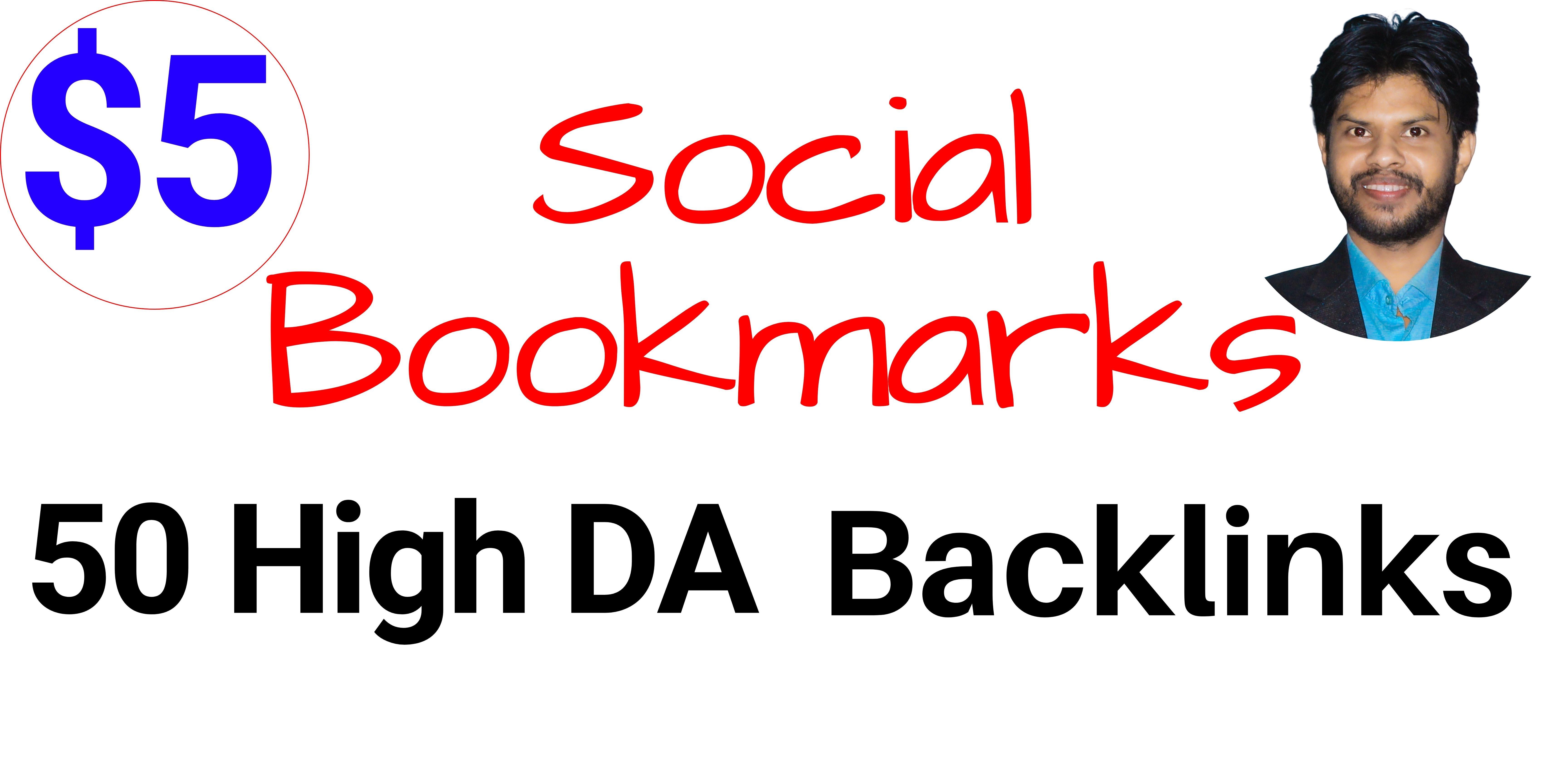 SUPERSTRONG Social Bookmarking High DA80+ Backlinks