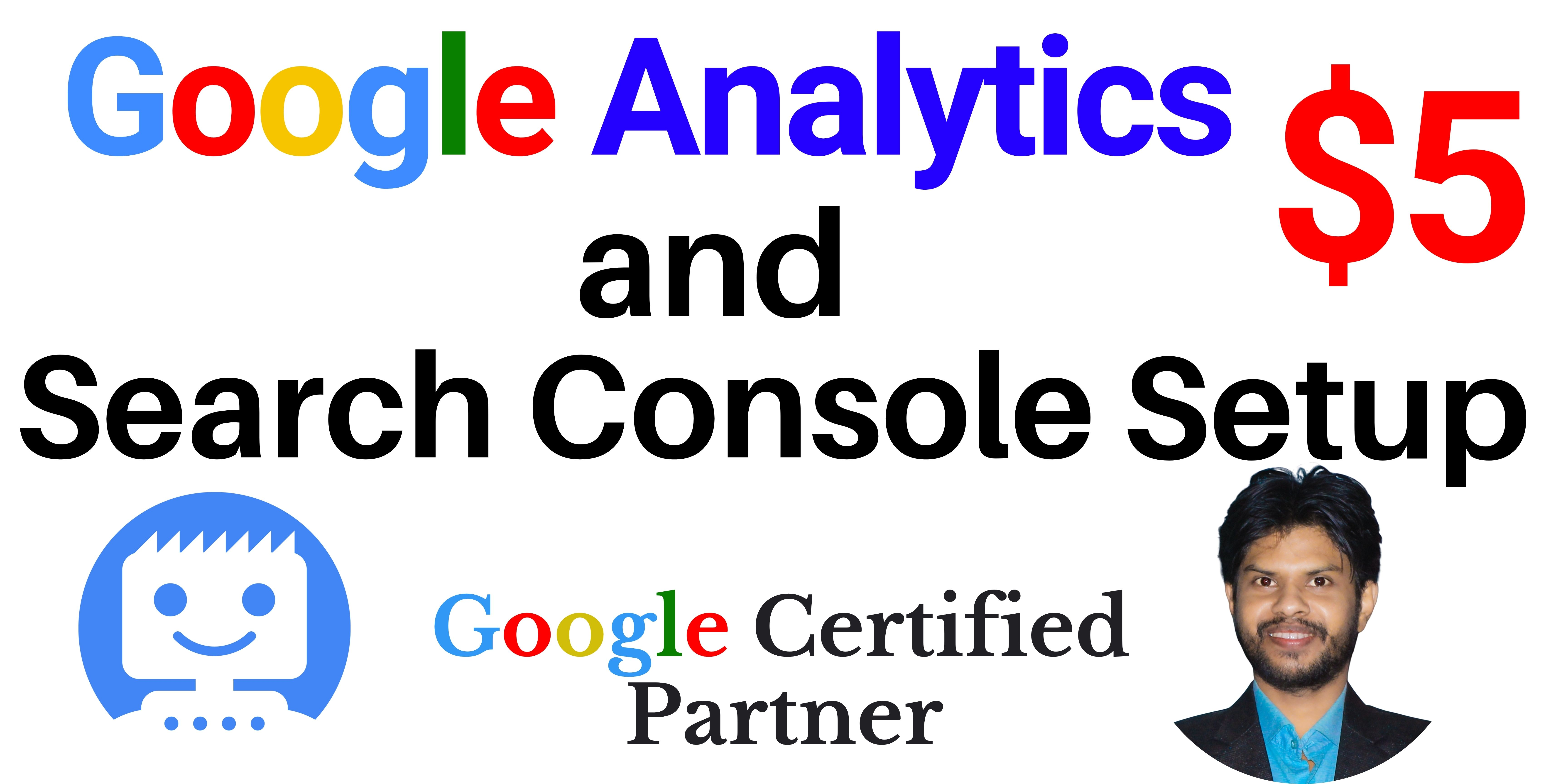 I will Setup Google Analytics & Google Search Console for your website