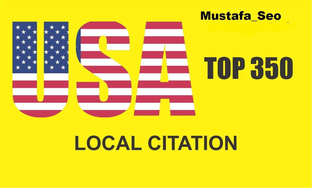 I will provide top 350 USA local citations in best ranking listing