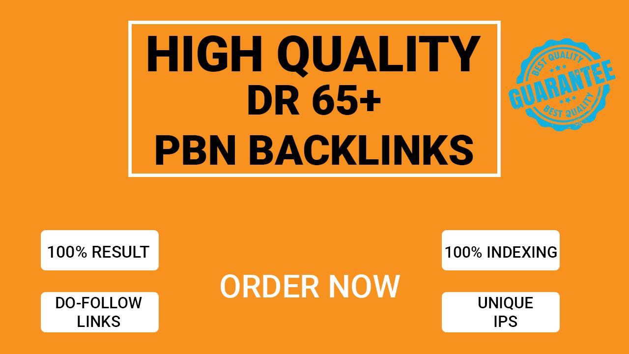 Provide you 10 high DR 65+ PBN backlinks