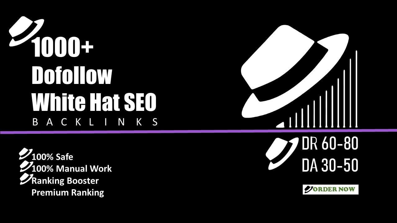 Provide 3000+ Manually white Hat SEO Dofollow Backlinks for 40