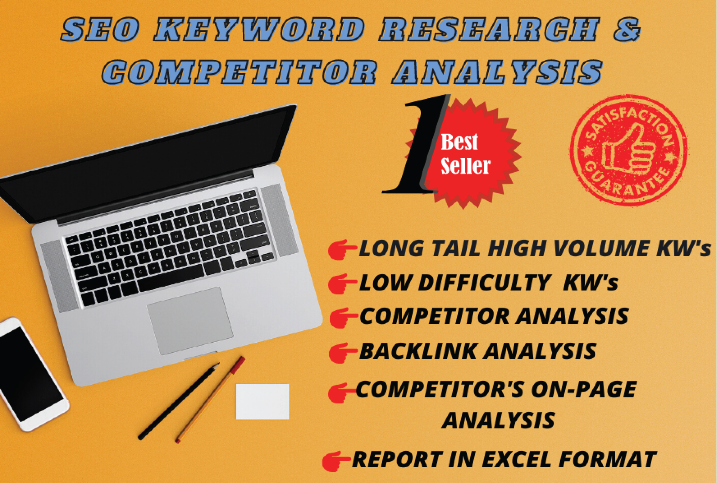 I will do professional Keyword Research and Competitor Analysis