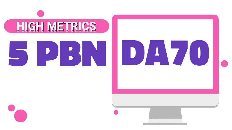 Create 5 homepage PBN's DA70 Permanent links