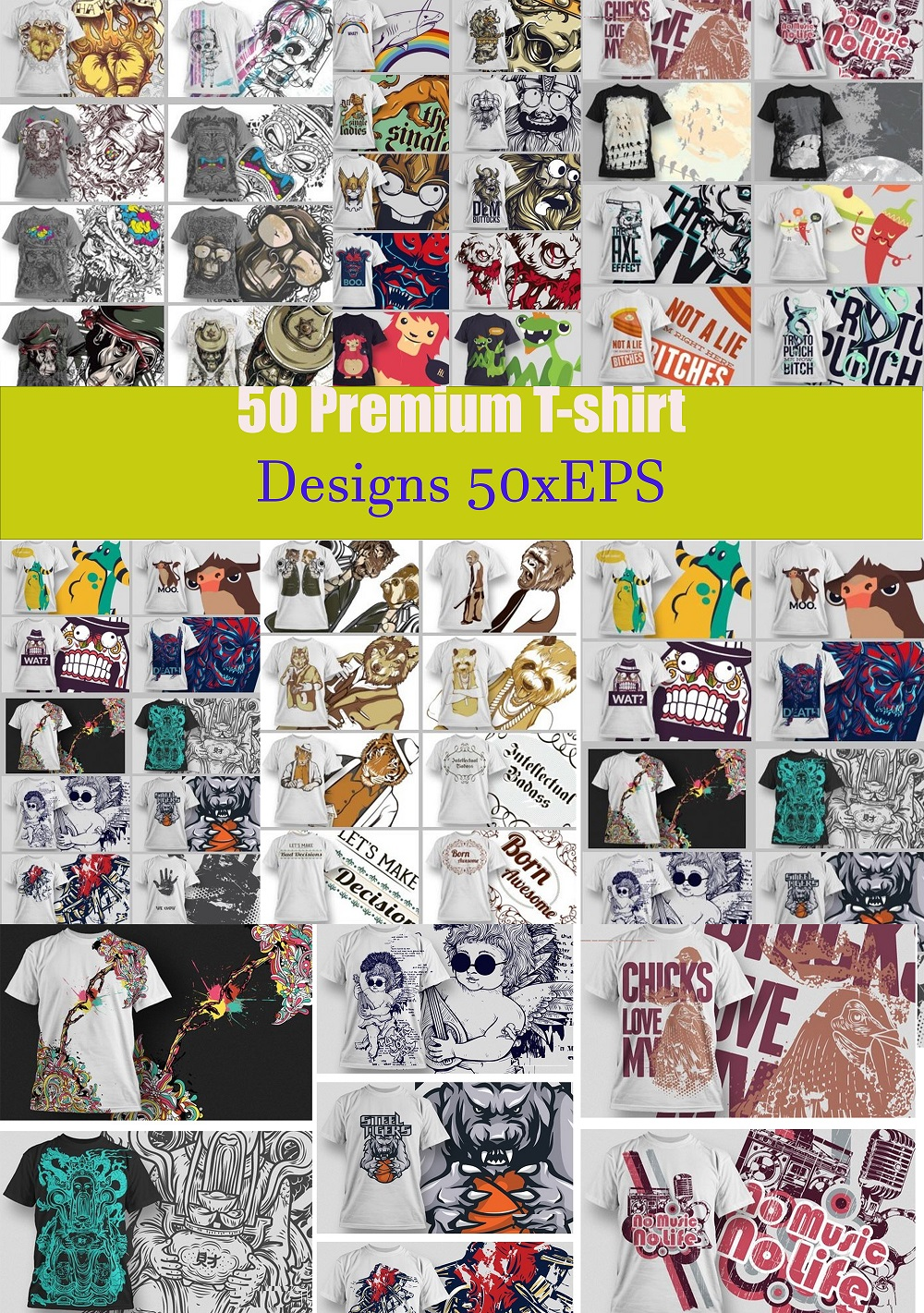 I will give you 50 premium tshirt designs