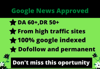 I will guest post on da 59 google news sites for seo backlink