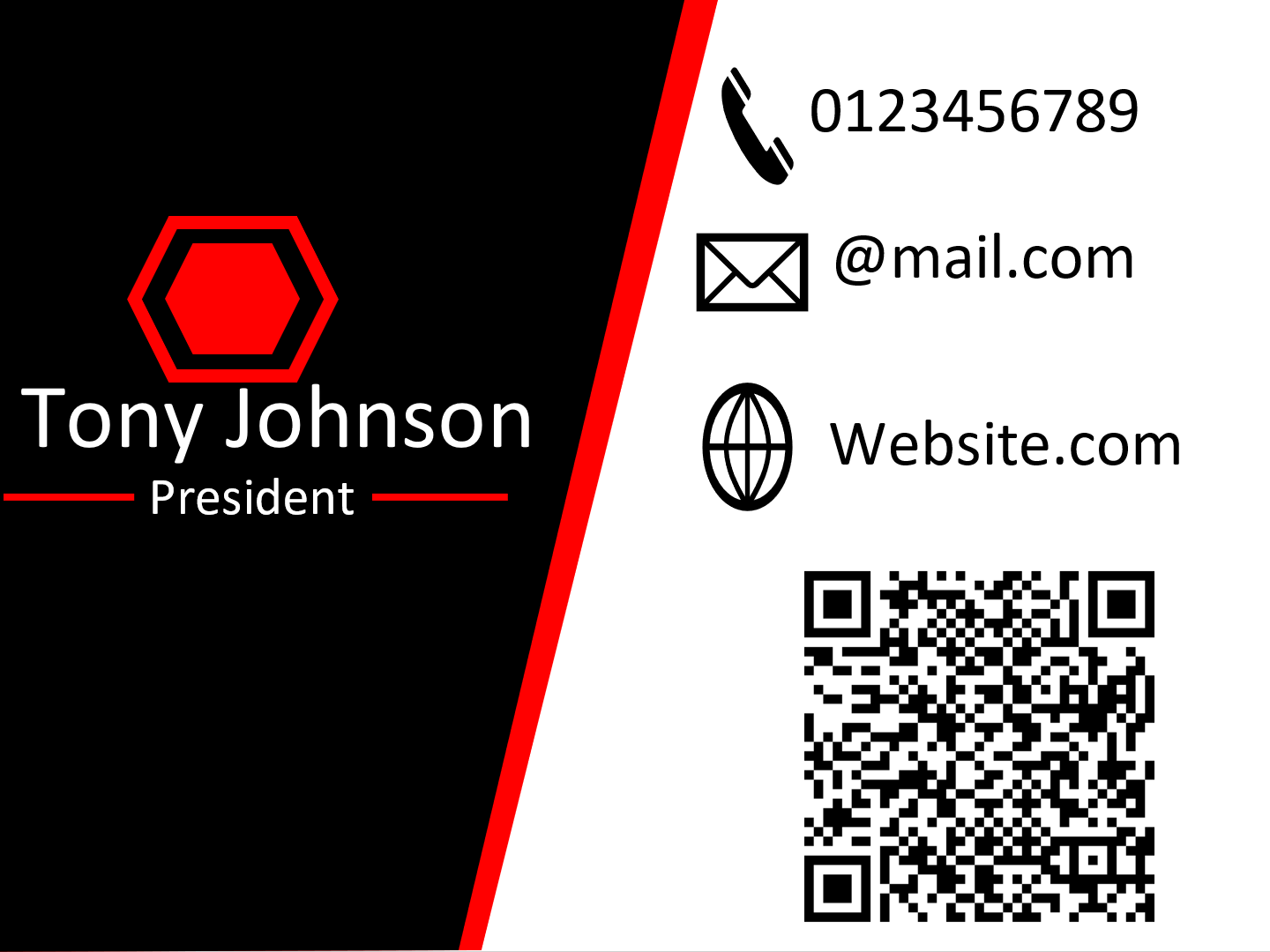 I will do business card design with a custom QR code for your business