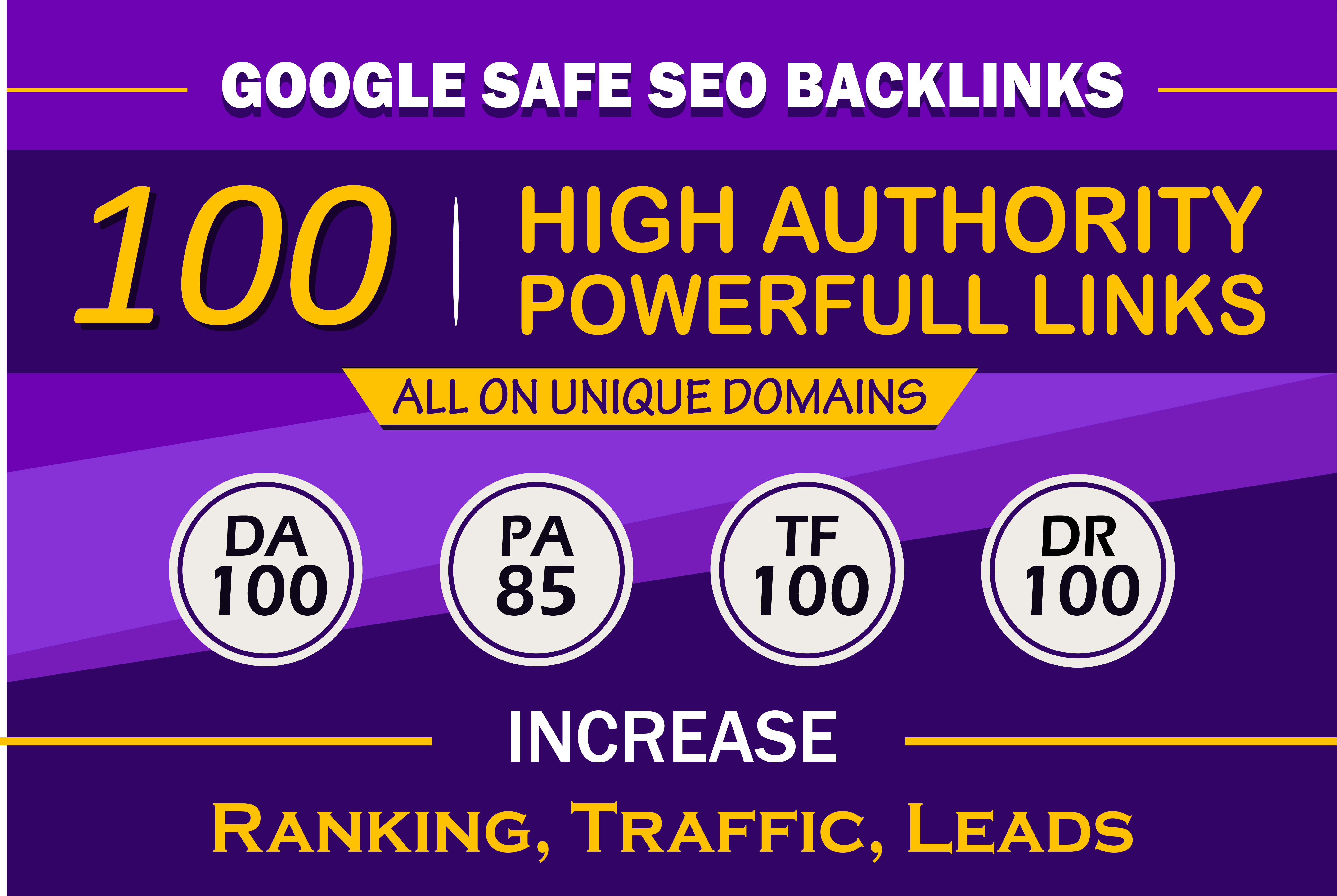Boost your ranking on Google with 100 High Authority Seo Backlinks