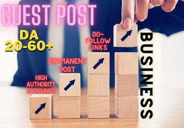 Business Guest Post On High DA website with Do-Follow Backlink