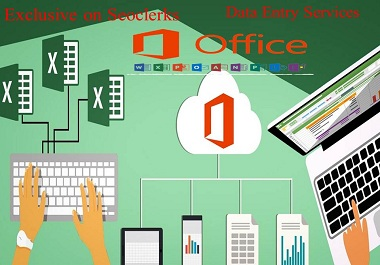 I will do fast excel/office data entry,  copy paste,  pdf to excel/office